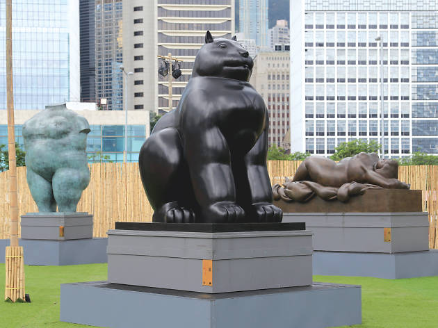 Fernando Botero sculptures at Central Harbourfront