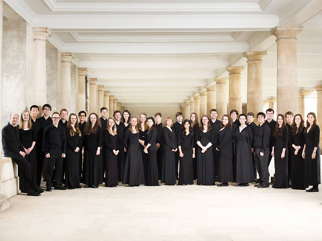 Group shot of Trinity College Choir