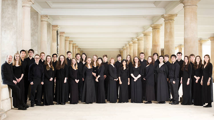 Group shot of Trinity College Choir