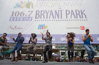 Broadway in Bryant Park