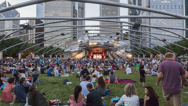 millennium park concert on the lawn
