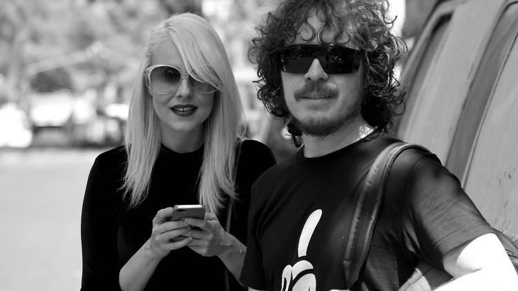 Maria Daniela y su sonido lasser en la Condesa