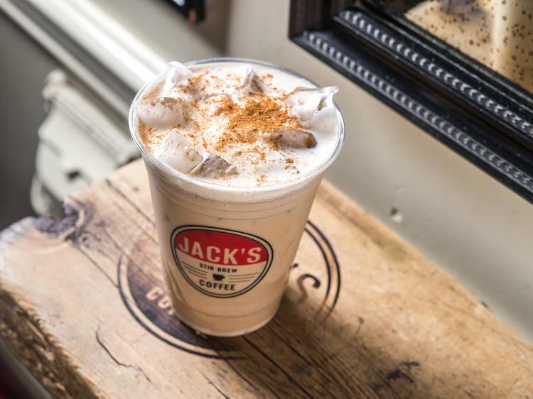 Happy Jack at Jack's Stir Brew Coffee