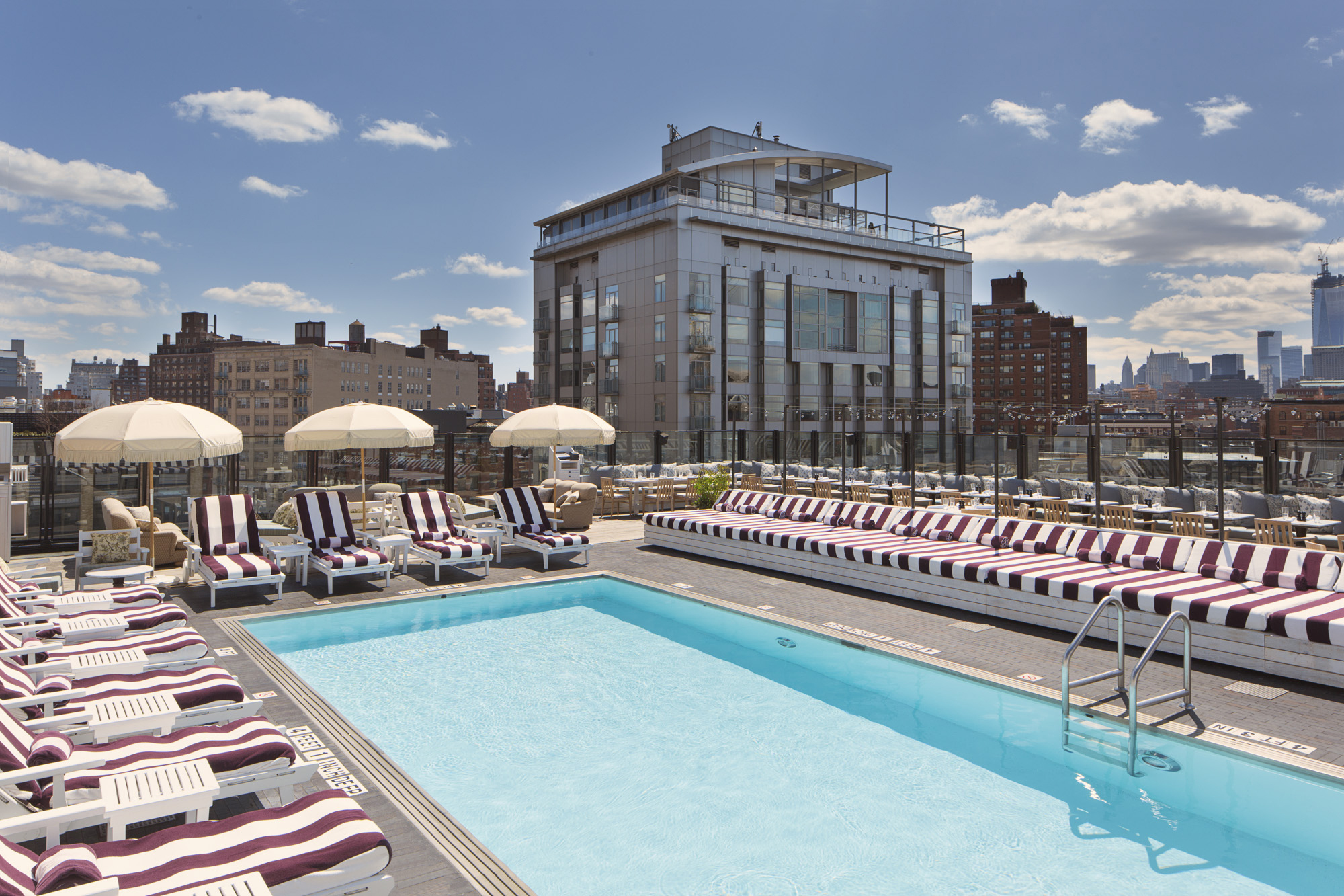 Best NYC Hotels With Jacuzzis In Rooms Including Rooftop Spas - Rooms with pools