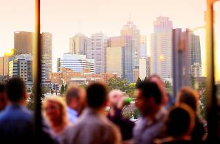 View of the city skyline from Fitzroy bar Naked in the Sky