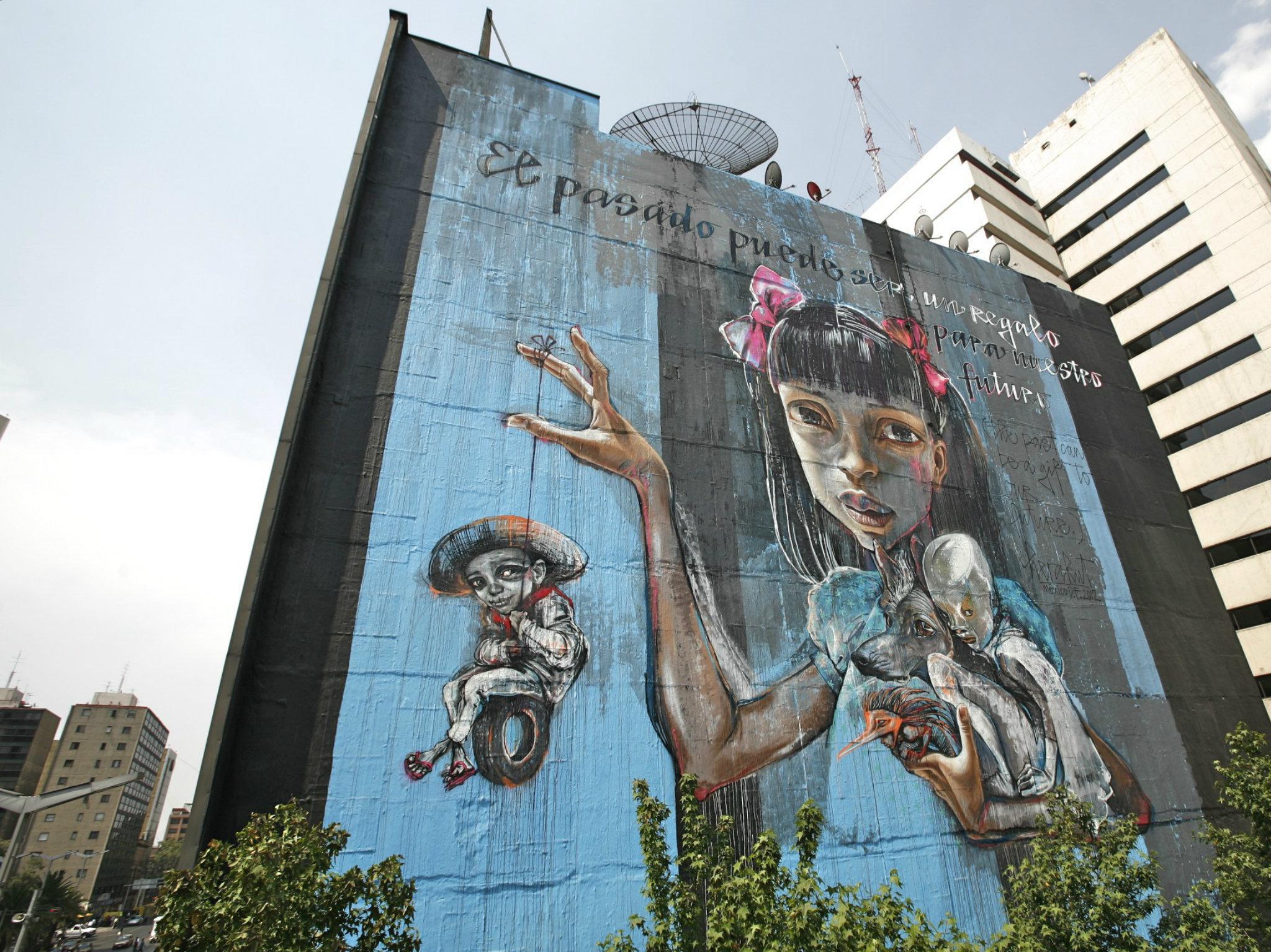 Mural de Herakut en la CDMX