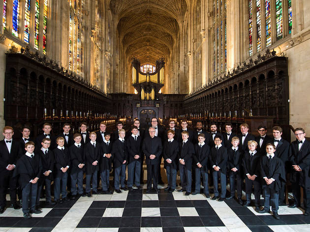 shot of king's college choir