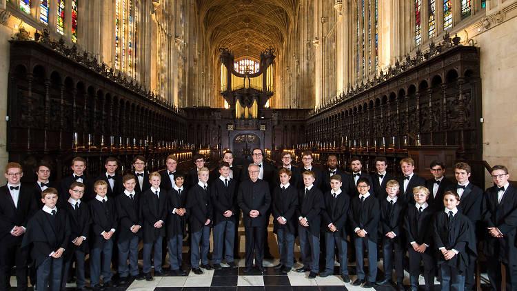shot of king's college choir