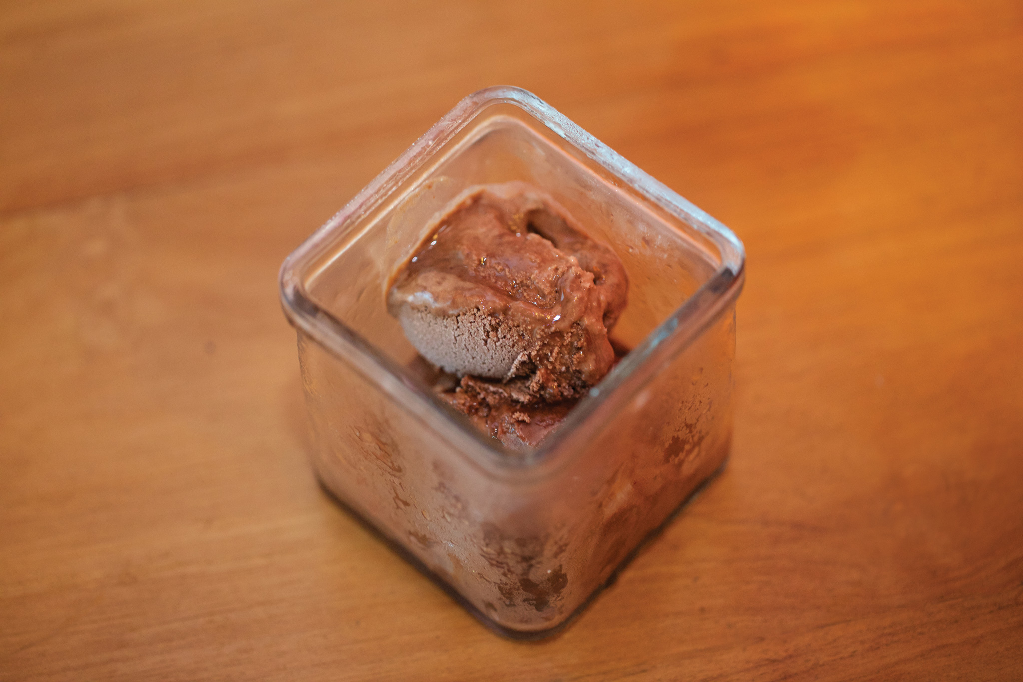 Chilli choc ice-cream