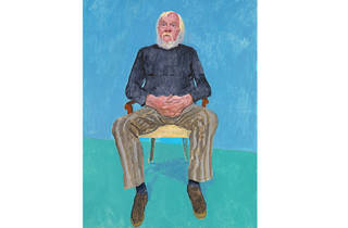 (David Hockney: 'John Baldessari', 13-16 December 2013. © David Hockney. Photo: Richard Schmidt)