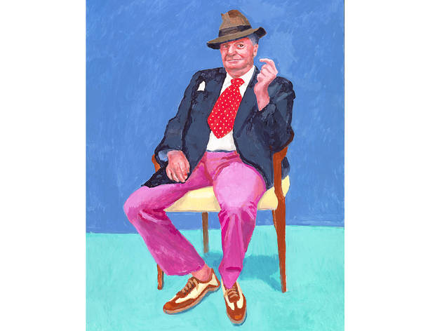 (David Hockney: 'Barry Humphries', 26-28 March, 2015. © David Hockney. Photo: Richard Schmidt)