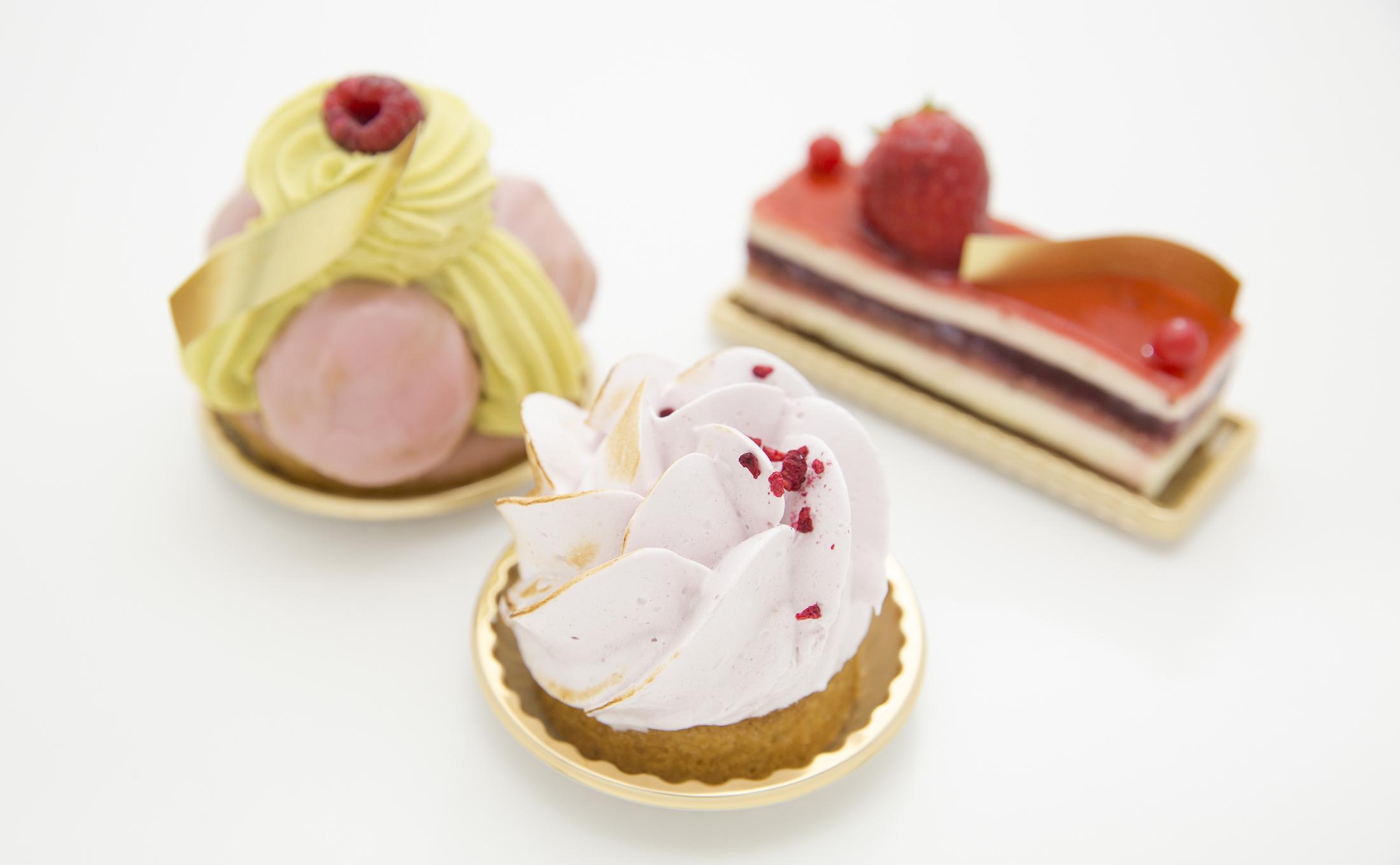 Pick up decorated desserts...