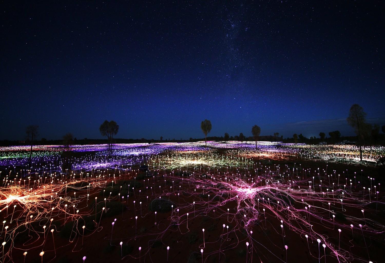 Visit Bruce Munroe's 'Field of Light'