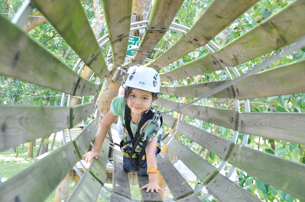 Kid-friendly high-element obstacle courses in Singapore