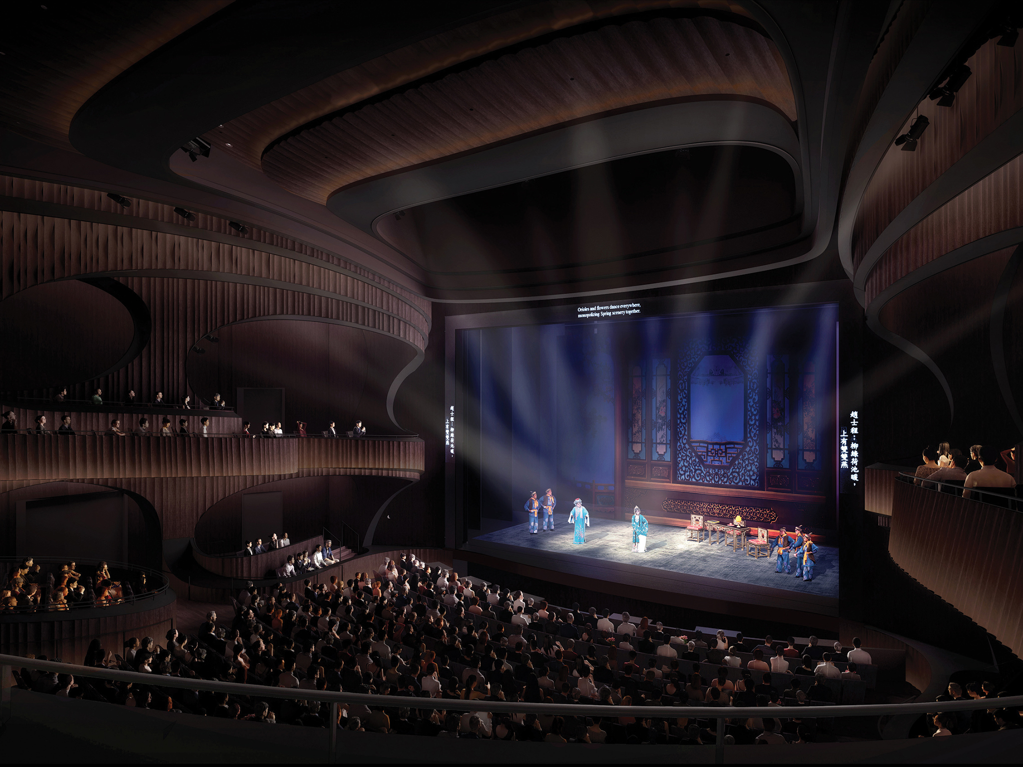 Digital rendering of The West Kowloon Cultural District's Xiqu Theatre