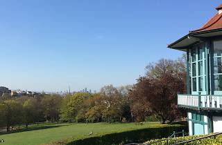 Views of London from Horniman Hill in Forest Hill.