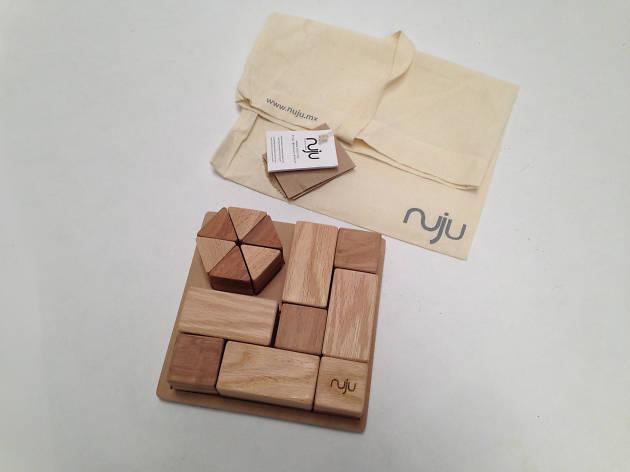 Bloques de madera de Nuju