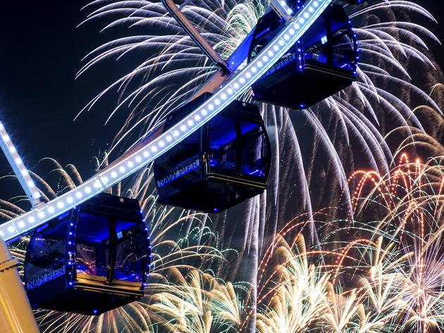 fireworks on navy pier
