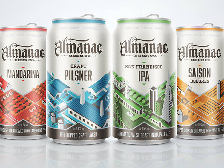 Mandarina, Craft Pilsner, San Francisco IPA, and Saison Dolores, Almanac Beer Company, San Francisco, CA