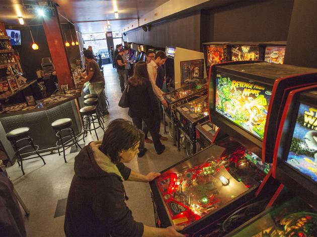 Arcade games at Two-Bit's Retro Arcade