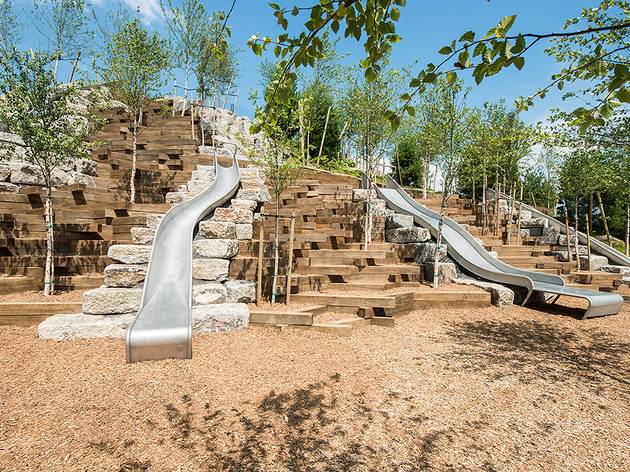 Slide Hill on Governors Island