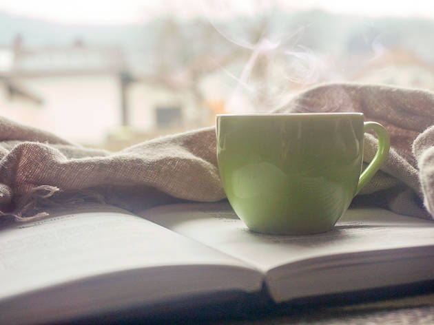 Generic coffee on book 01