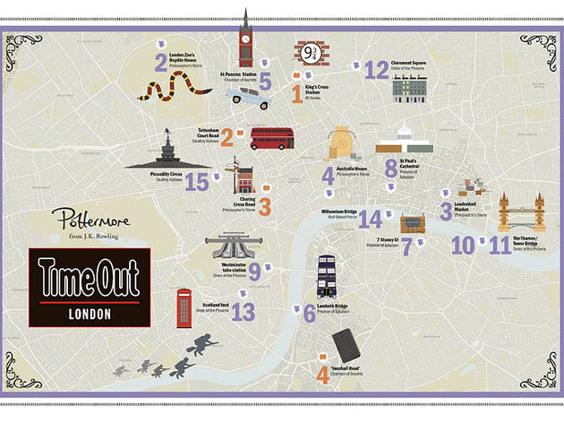 Map: Harry Potter locations in London
