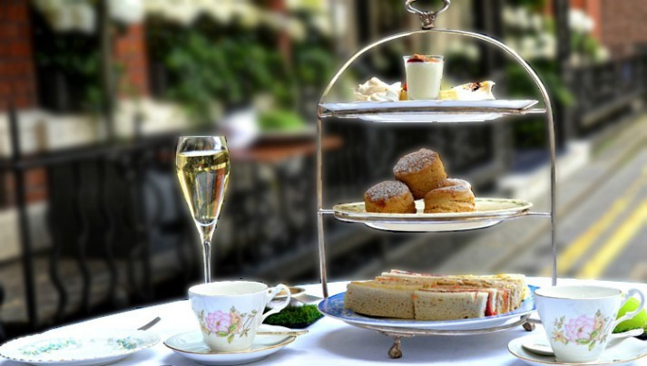 A lavish afternoon tea at Dukes London