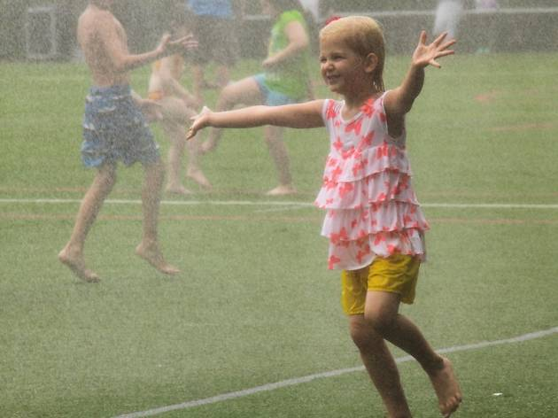 Sprinkler Day at Asphalt Green