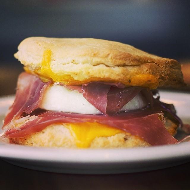 Breakfast sandwich at Clementine