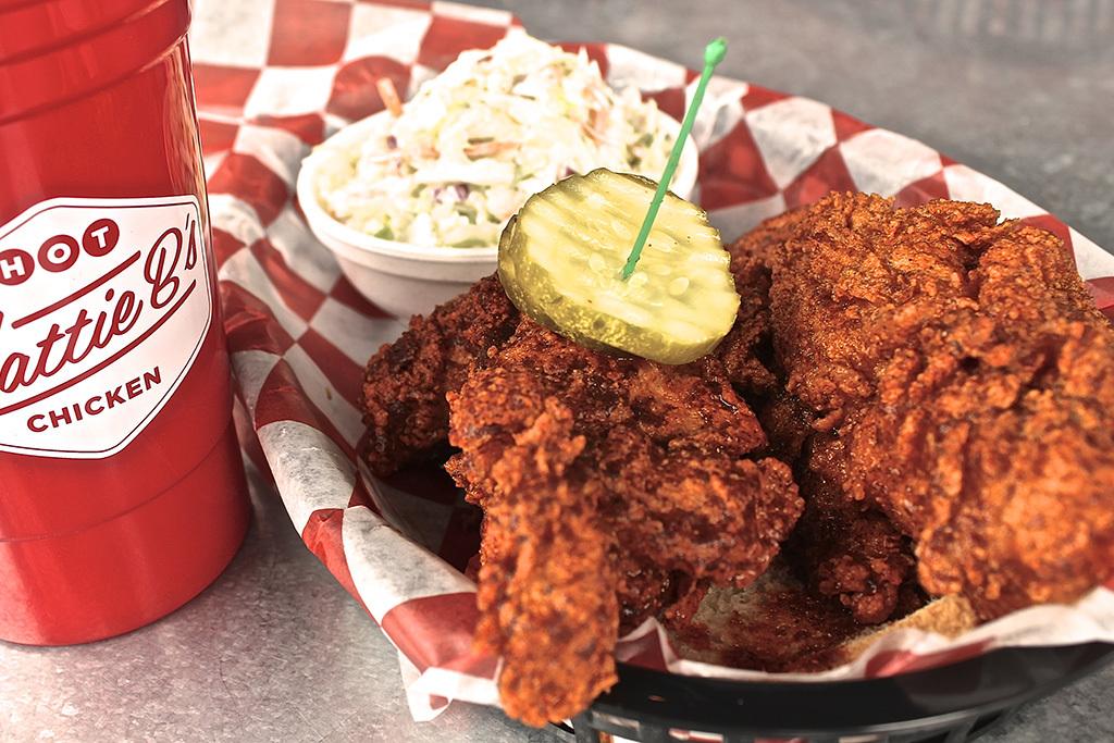 """""""Shut the Cluck Up!!!"""" hot chicken at Hattie B's Hot Chicken in Nashville"""