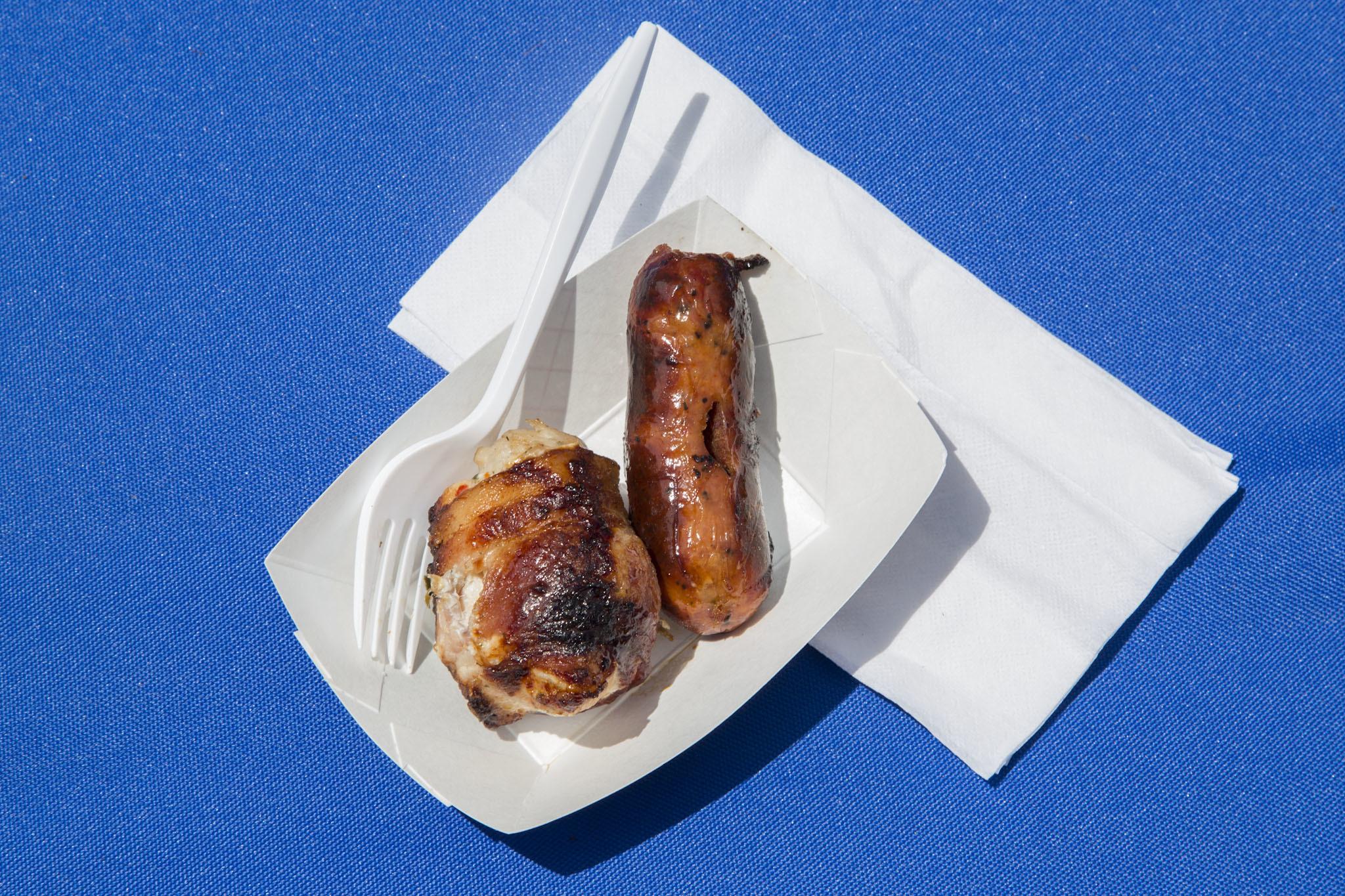Chicken Wrapped in Bacon from Texas de Brazil