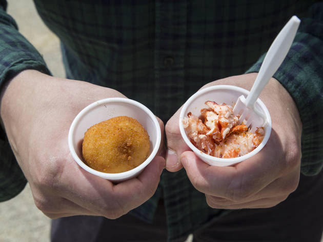 Lobster Mac & Cheese Bites from the Happy Lobster Truck