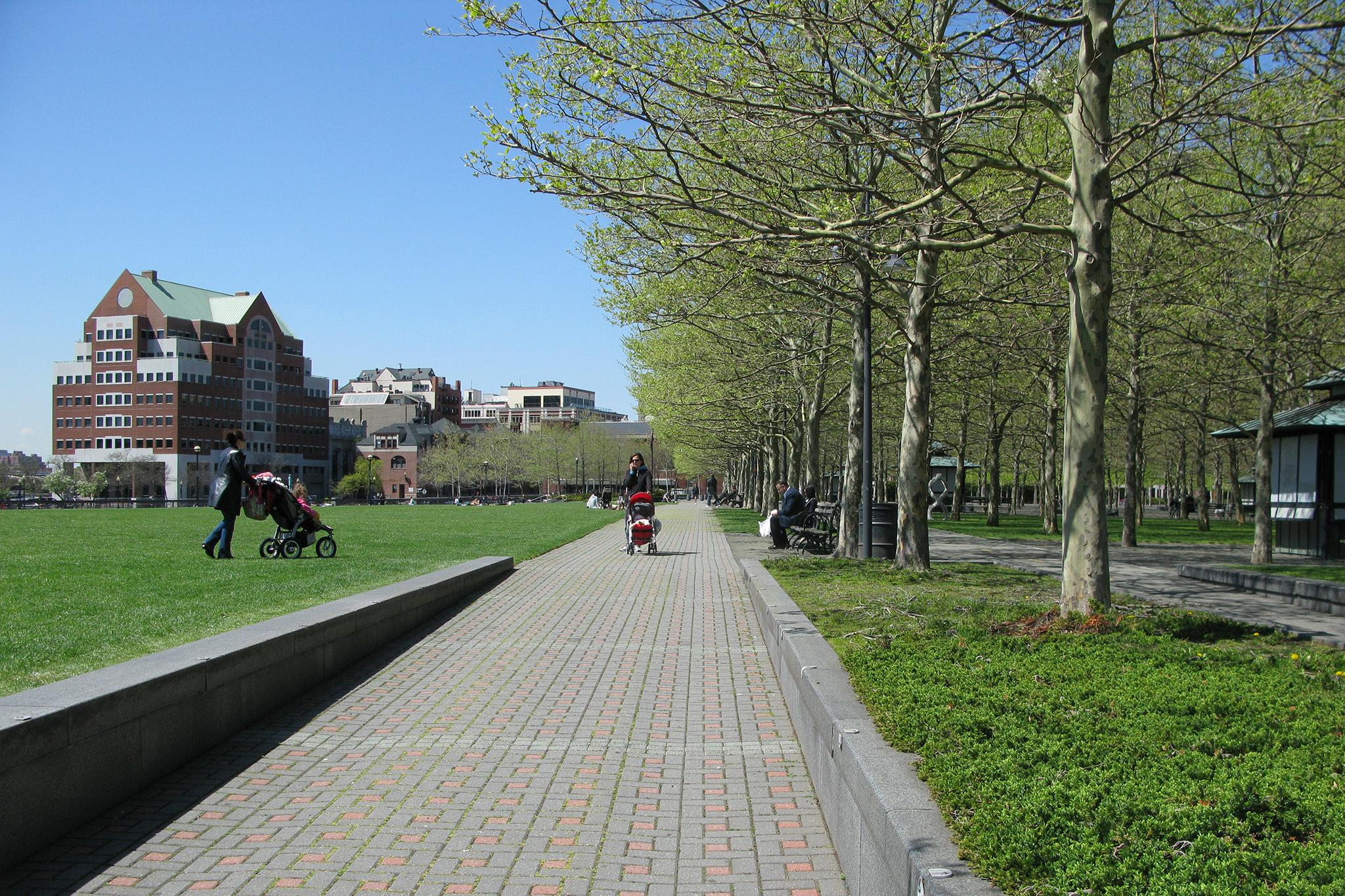 Pier A Park in Hoboken, NJ