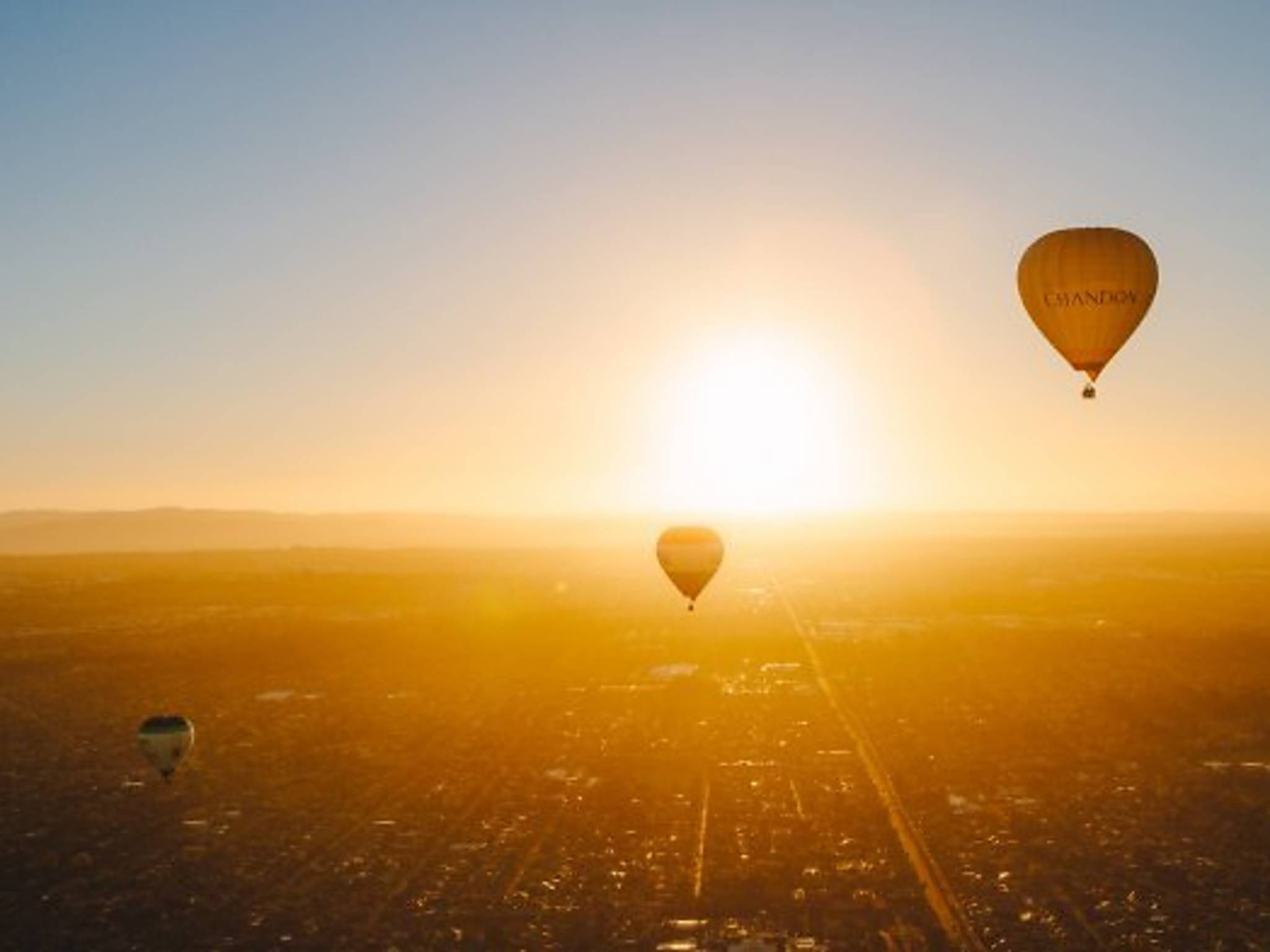 Soar above the city in a hot air balloon