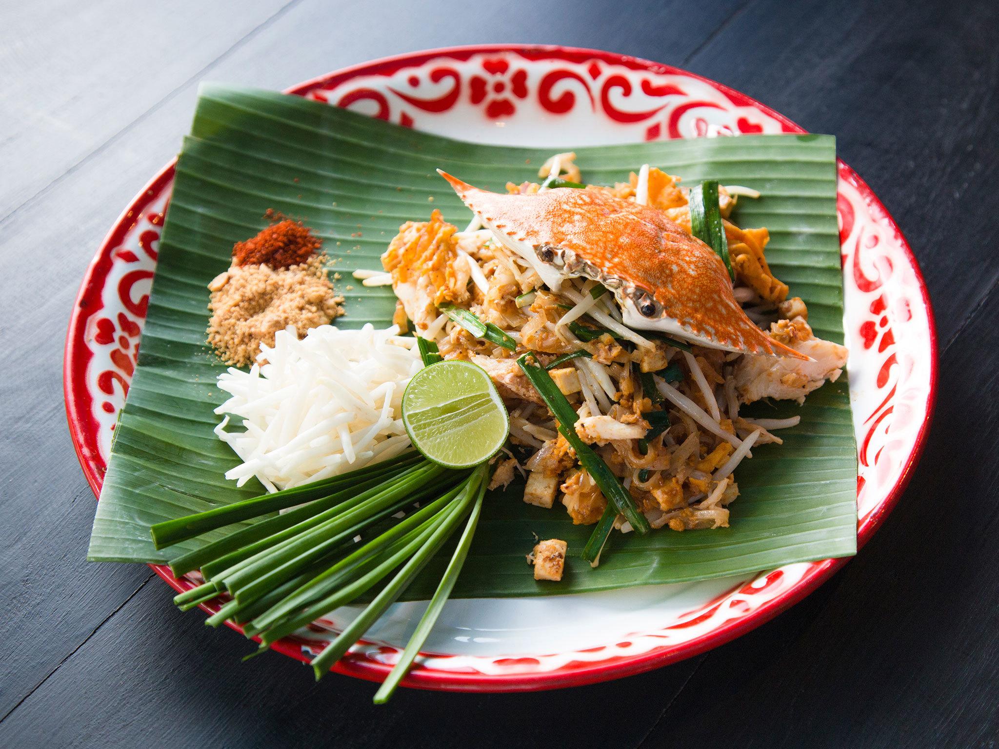 A menu at Baan Phadthai