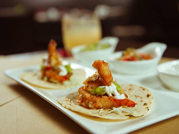 Caliente shrimp tacos
