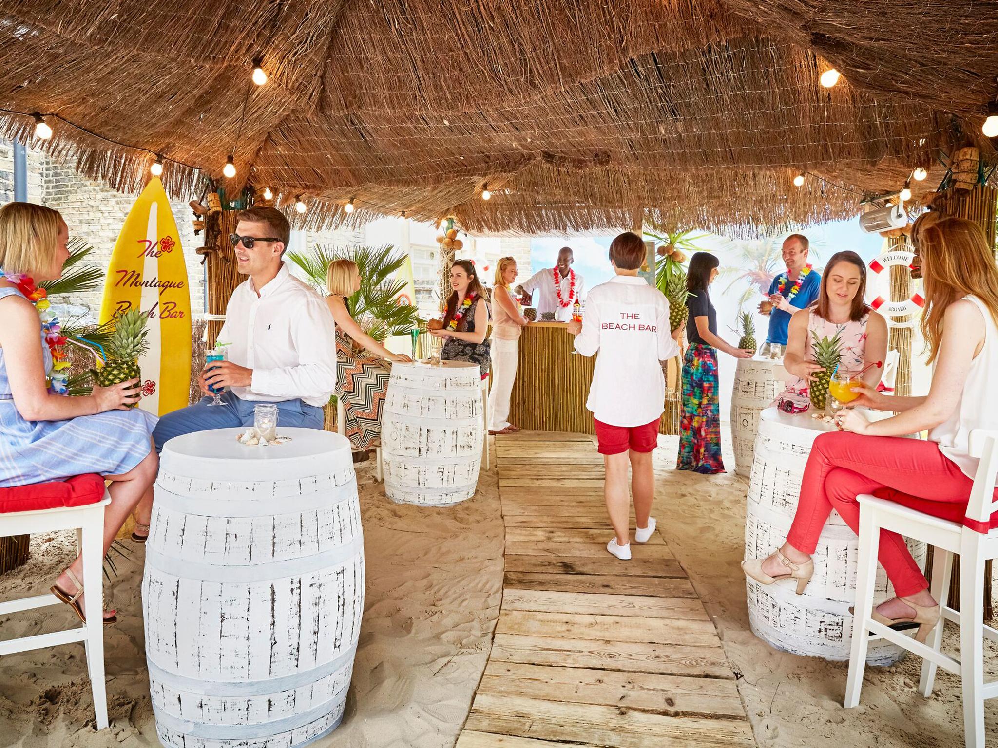 best beach bars in London, montague on the gardens beach bar