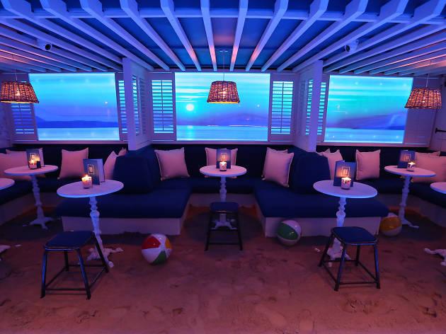 best beach bars in london, myki sand bar