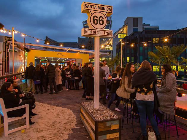 best beach bars in london, santa monica at skylounge