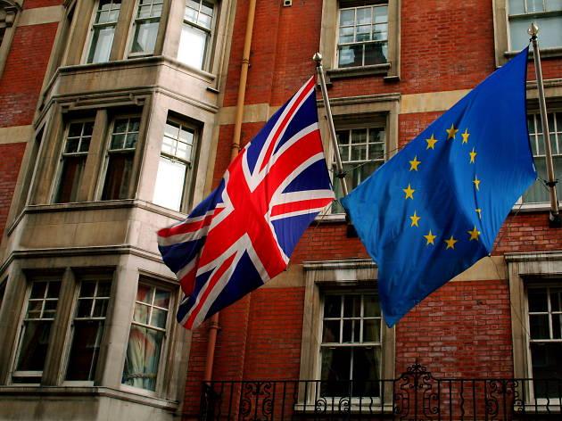 union jack drapeau anglais union européenne londres