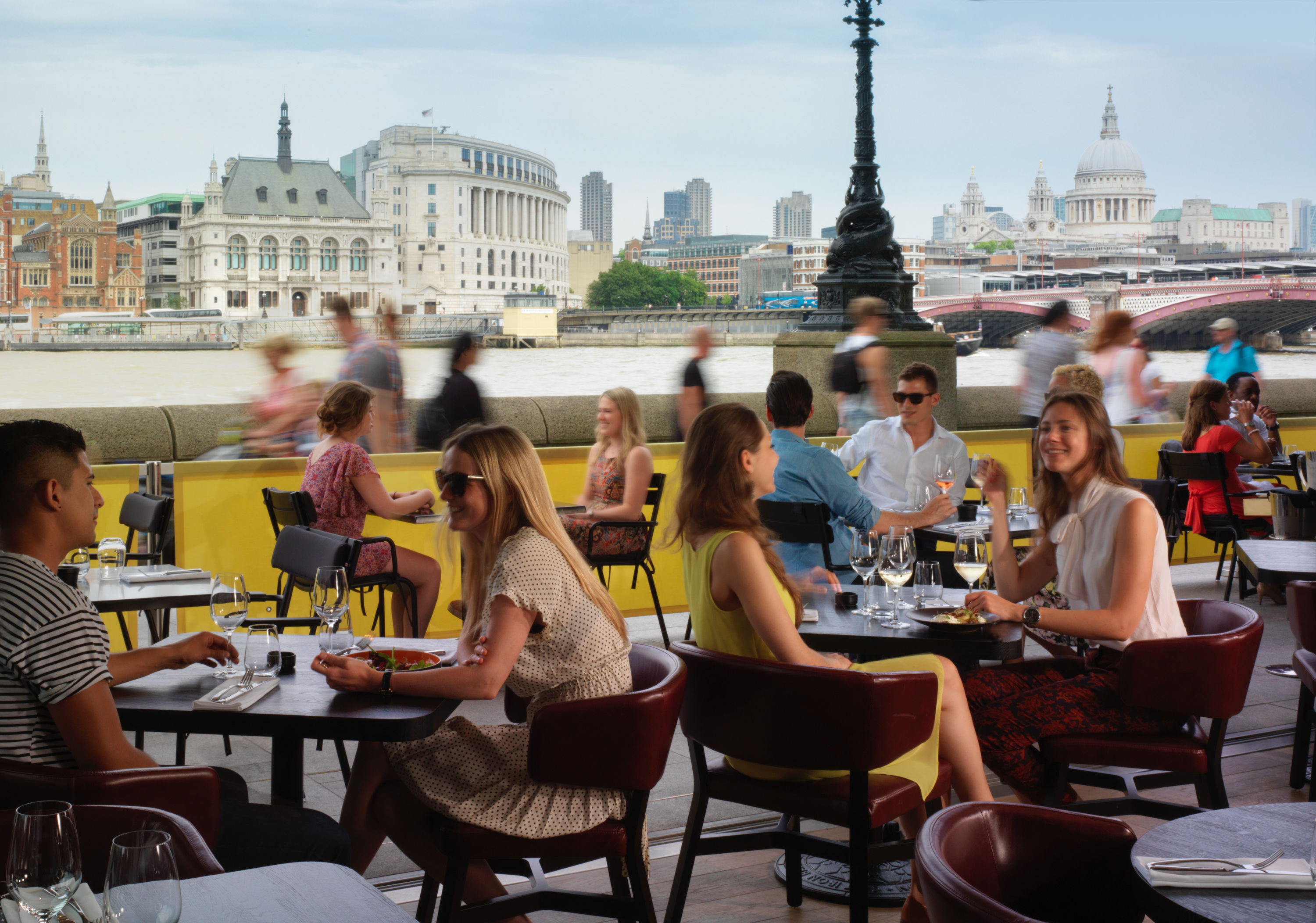best riverside restaurants in london, sea container