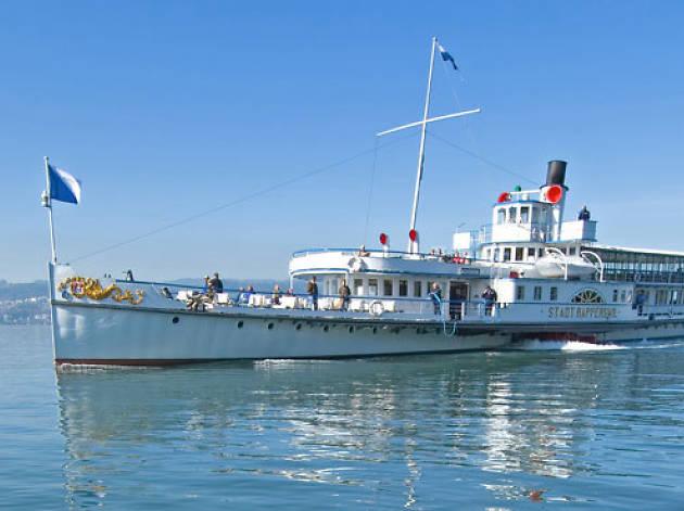Steamboats on Lake Zurich