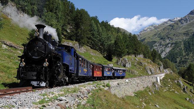 Furka Mountain Steam Locomotive