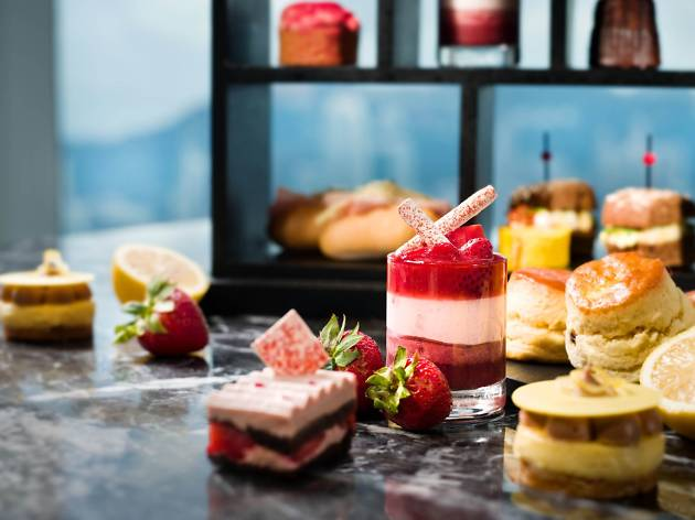 Strawberry citrus afternoon tea