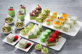 Green Tea Afternoon Set Park Cafe