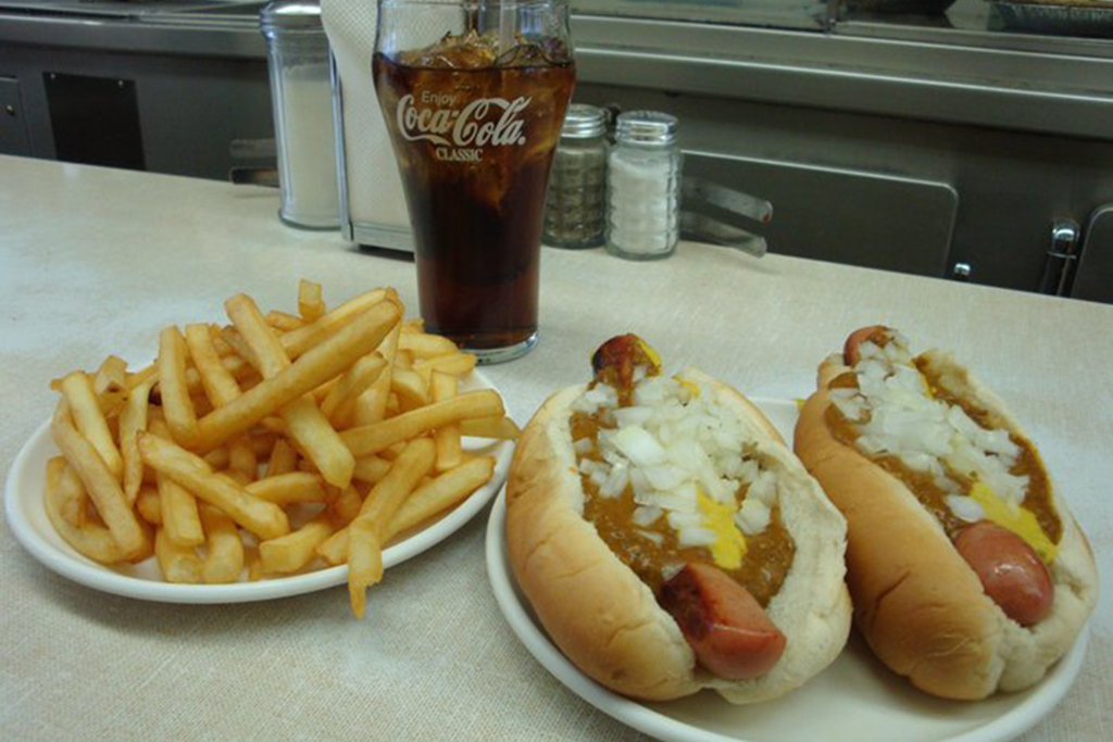 Coney Dog at Lafayette Coney Island in Detroit, MI