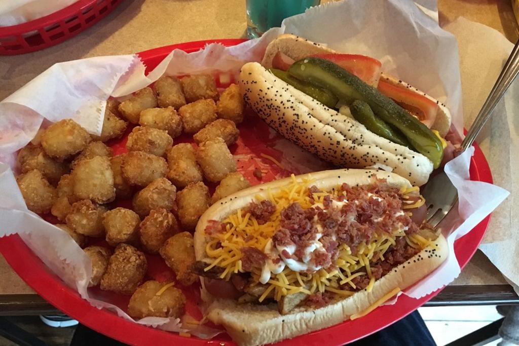 dirty hot dog