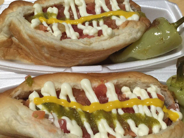 Arizona: Sonoran hot dog at BK Carne Asada & Hot Dogs in Tucson