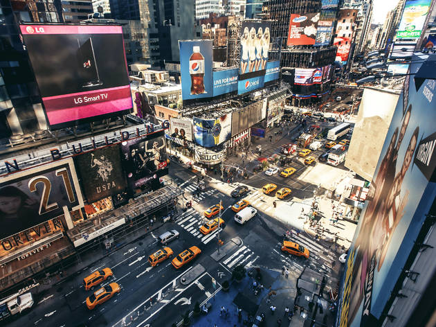 At this free Times Square game fest, you'll play hopscotch on a NYC subway map and compete in human Pong
